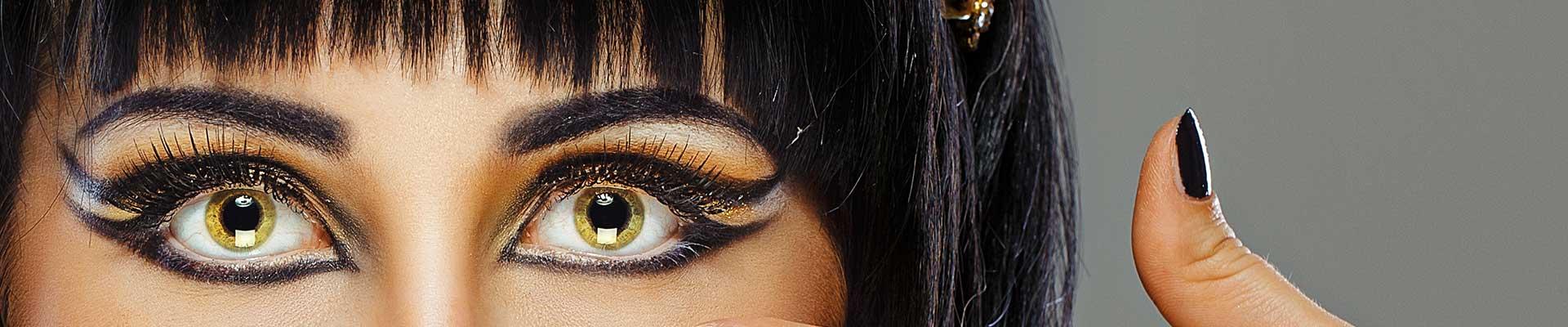 dame med gule øyne